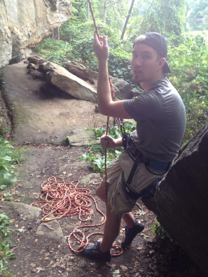 Ben Rolff rock climbing